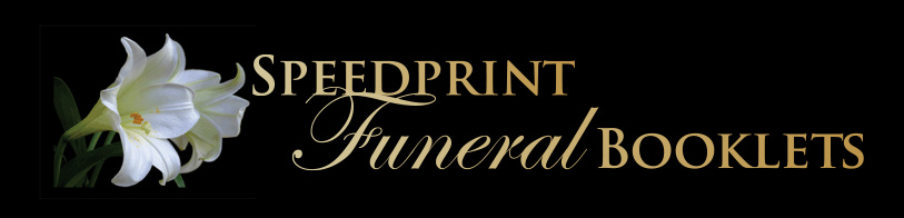 Speedprint Funeral Booklets