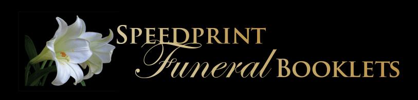 Speedprint Funeral Booklets